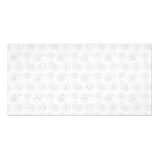 Subtle Large Paisley Bandana Texture Personalized Photo Card