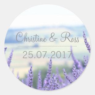 Subtle lavender, floral, wedding sticker