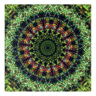 Subtle Mandala World Acrylic Wall Art