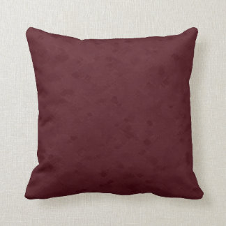 Subtle Maroon Pattern Throw Pillow