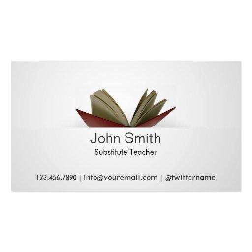 Substitute teacher business card militaryalicious substitute teacher business card colourmoves