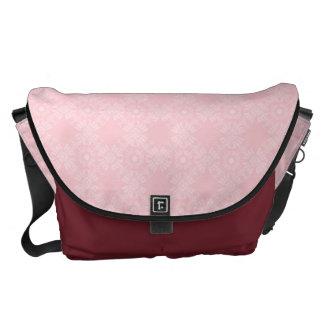 Subtle Pale Pink Geometric Floral Messenger Bag