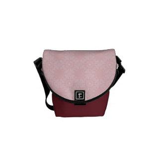 Subtle Pale Pink Geometric Floral Courier Bag