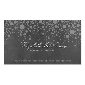 Subtle Retro Chalkboard with Stars Pack Of Standard Business Cards