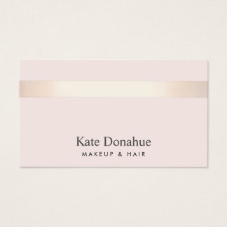 Subtle Rose Gold Striped Elegant Pink Pink Business Card