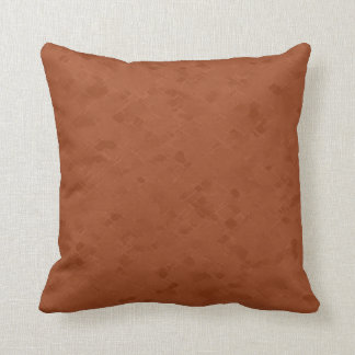 Subtle Rust Pattern Throw Pillow