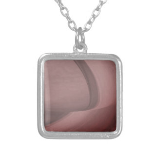 Subtle Sangria Silver Plated Necklace
