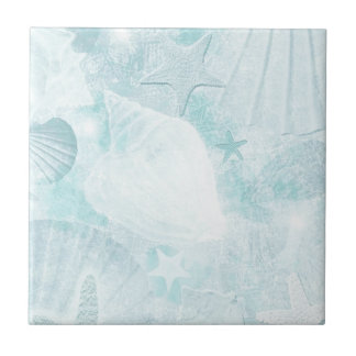 Subtle sea shells Graphic Art Tile