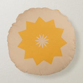 Subtle Sun Round Cushion