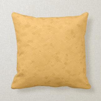 Subtle Yellow Orange Pattern Throw Pillow