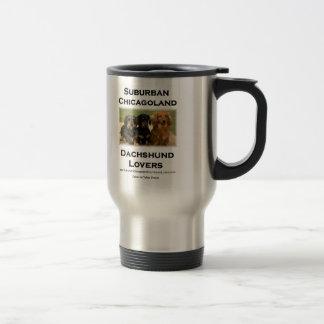 Suburban Chicagoland Dachshund Lovers Travel Mug