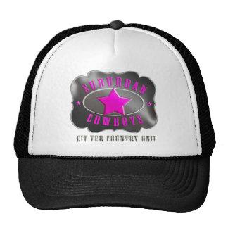 Suburban Cowboys Trucker Hat - Pink Logo