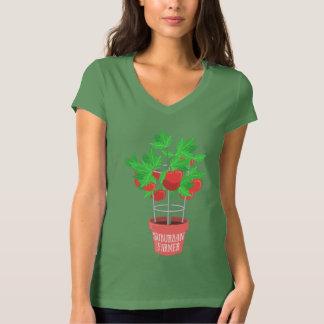 Suburban Farmer-Tomato Plant Growing in a Pot T-Shirt