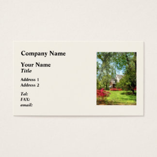 Suburban House With Azaleas Business Card