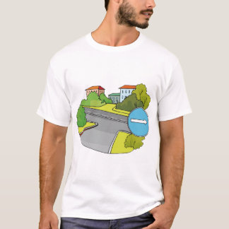 Suburban Intersection Mens T-Shirt