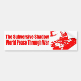 Subversive Shadow Bumper Sticker