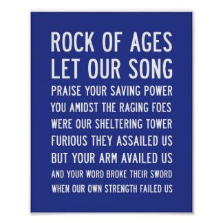 Subway Art   Rock of ages Poster