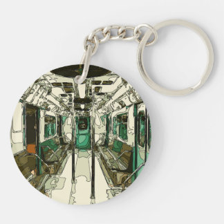 Subway Car Within the Metal Key Ring