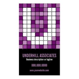 Subway Tile  Monogram U Purple Business Card
