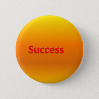 success 6 cm round badge