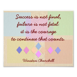 Success and Failure-print Winston Churchill- quote Photo