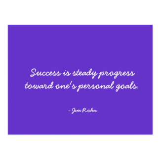 Success and Winning Quote Postcard