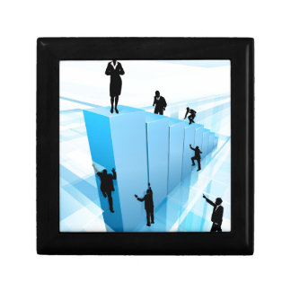 Success Concept Business People Silhouettes Gift Box