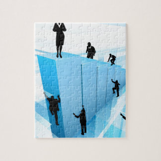 Success Concept Business People Silhouettes Jigsaw Puzzle