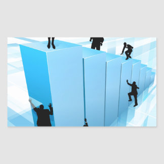 Success Concept Business People Silhouettes Rectangular Sticker