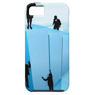 Success Concept Business People Silhouettes Tough iPhone 5 Case