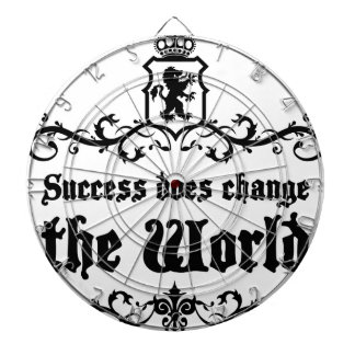 Success Does Change The World Medieval quote Dartboard