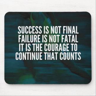 Success, Failure, Courage - Workout Motivational Mouse Pad