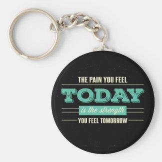 Success, Goals Attitude Motivational Quote Black Key Ring