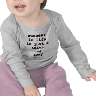 Success In Life Is Just A <Div> Tag Away (Humor) T Shirts