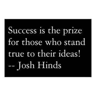 Success Is The Prize Poster