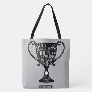 Success is walking from failure Winston Churchill Tote Bag