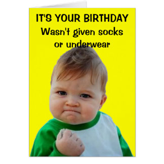 Success kid birthday card