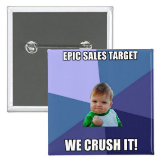 Success Kid Square Pin for Your Sales Team