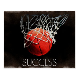 Success Motivational Basketball Trend Stylish Cool Poster
