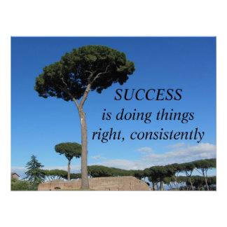 Success Motivational Message Poster