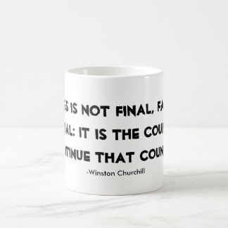 Success Mug Winston Churchill quote