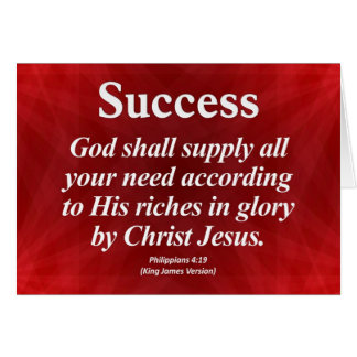 Success Philippians 4:19 Card