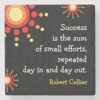 Success Quotation Motivational Words Stone Beverage Coaster