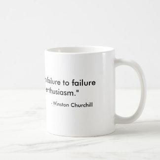 Success quote Churchill Coffee Mug