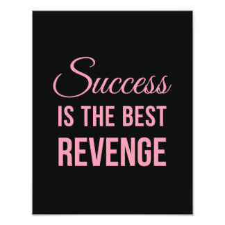 Success Revenge Inspirational Quote Black Pink Photo