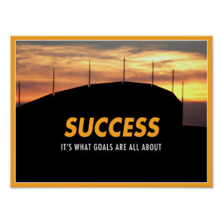 Success Through Goals Poster