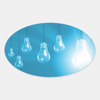 Successful Business or Idea as a Concept Oval Sticker