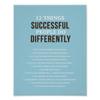 "Successful People 8""x 10"" Art Print"