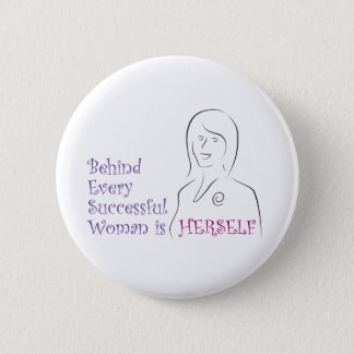 Successful Woman 6 Cm Round Badge