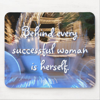 """""""Successful woman"""" Quote Sparkly Gold Coach Photo Mouse Pad"""